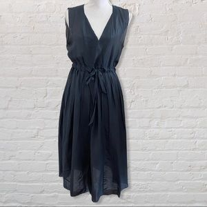 CP Shades Juliette Dress Blue Ink S Cotton Silk